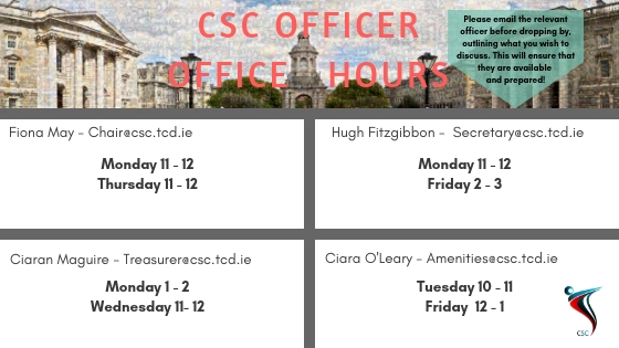 2018 CSC OFFICER OFFICE HOURS