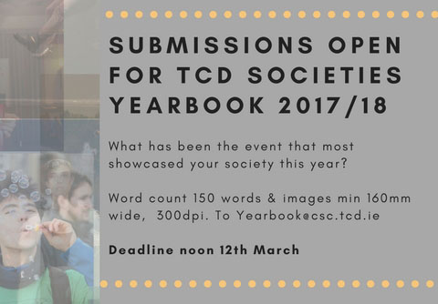 FB SUBMISSIONS OPEN FOR SOCIETY YEARBOOK 201718