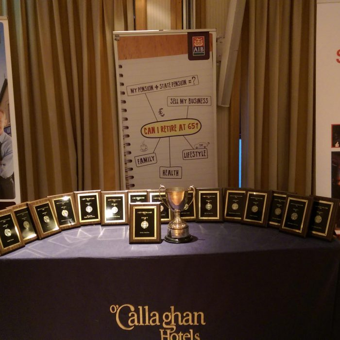 table with awards